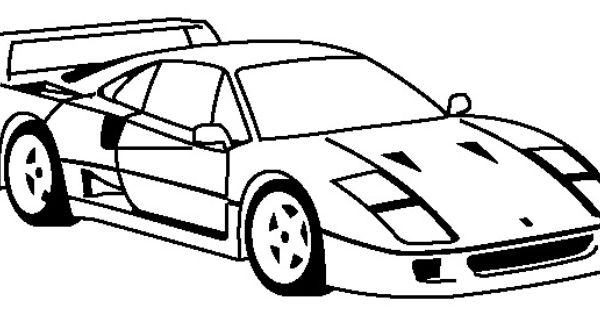 Ferrari F40 1987 Coloring Page - Ferrari car coloring pages ...