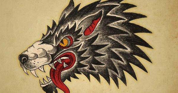 Traditional Wolf Tattoo Shoulder
