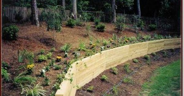 Image Result For Curved Wooden Retaining Walls Garden Retaining Wall Wooden Retaining Wall Side Yard Landscaping