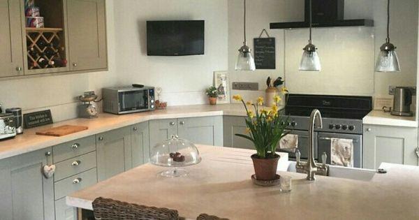Wickes Tiverton Grey Kitchen Units With Darker Grey Floor