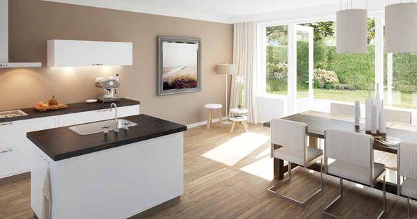 3d keukenontwerp van een moderne open keuken open keuken pinterest open keuken keuken en - Open keuken idee ...