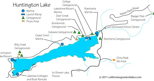 Huntington Lake Map