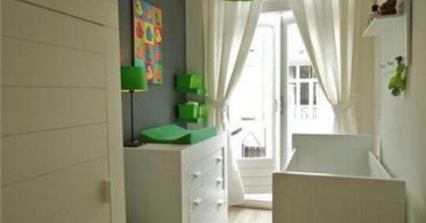 Babykamer jongens groen grijs wit muur pinterest babykamer jongens babykamer en jongens - Kamer blauwe jongen grijs ...