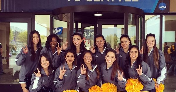 Uci Spirit Squad In Seattle To Cheer The Men S Basketball Team On At The 2015 Ncaa Tournament Cheer Dance Cheer Ncaa Tournament