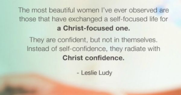 Beautiful Women Live A Christ-focused Life.
