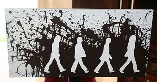 diy beatles abbey road canvas art. Would be cool to use cut