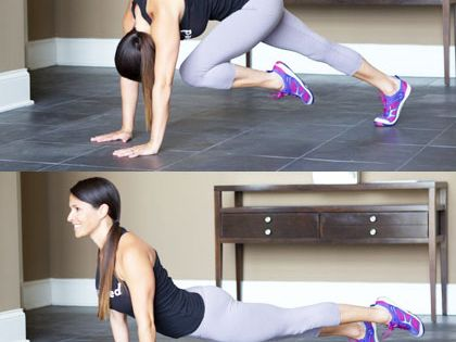 Single-Leg Plank Flex and Extend - How to Get a Flat Stomach: