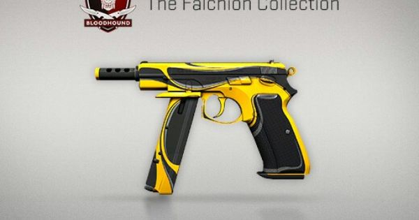 Counter Strike Global Offensive The Falchion Collection Cz75 Auto Yellow Jacket Armas Imagens