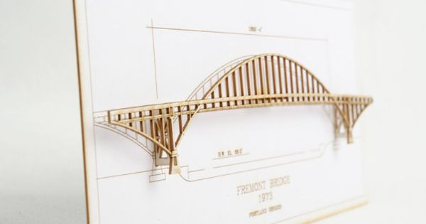 Architectural Model Of Fremont Bridge In By