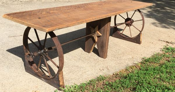 Custom Western Styled Bench Made From Barn Wood And Iron
