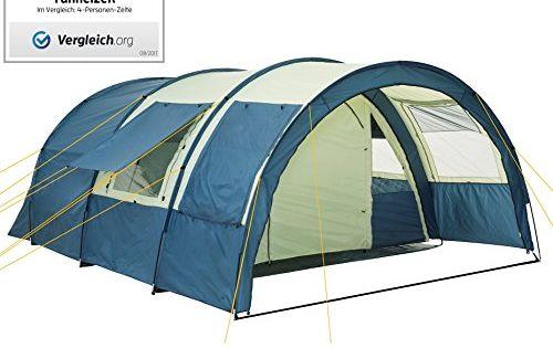 200 cm Stehh/öhe mit fest eingen/ähtem Zeltboden 5000 mmWassers/äule, skandika Nordland 4-Personen Familien//Tunnel Campingzelt