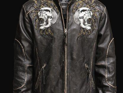 Affliction shredded leather jacket