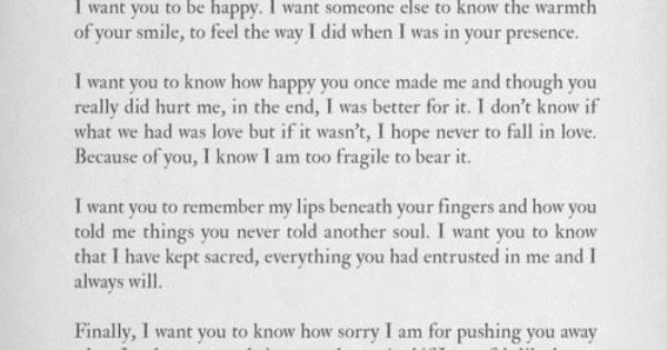The most beautiful words. You were safe with me, I want you