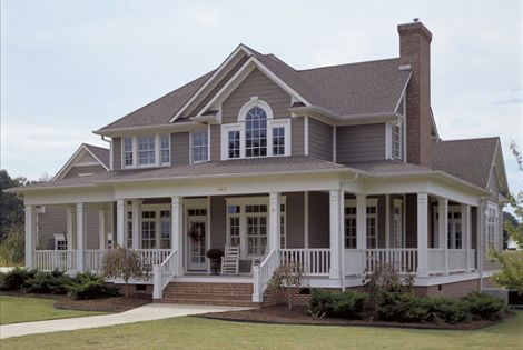 Wrap around porch & front porch swing = dream home!