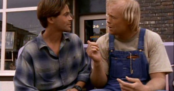 Rob Lowe As Nick Andros And Bill Fagerbakke As Tom Cullen In The 1994 Miniseries Adaptation Of The Stand Stephen King Stephen King Movies Rob Lowe