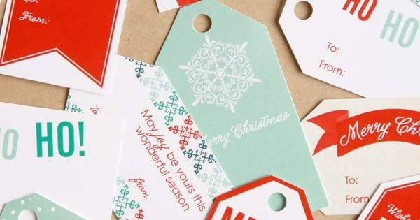 free printable xmas gift tags - sharon rowan