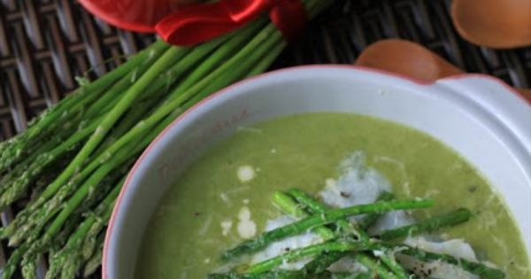 asparagus soup with poached egg, Parmesan and truffle oil | Eggs, eggs ...