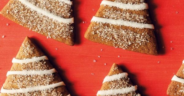 Gingerbread Trees with Lemon Icing | Recipe | Christmas treats ...