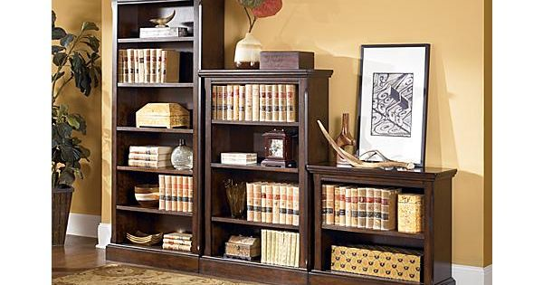 The porter large bookcase from ashley furniture homestore for Ashley furniture home office collection