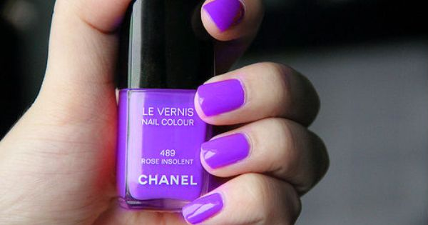 Purple Chanel nail polish - but sold out!