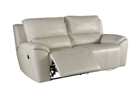 Ashley Valeton Power Reclining Leather Loveseat In Cream Recliningsofa Power Reclining Sofa Reclining Sofa Sectional Sofa With Recliner