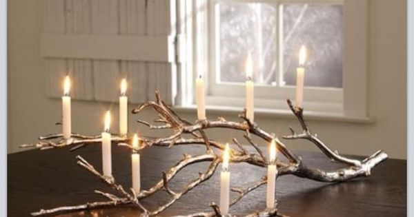 Shabby country chic branch candle holder decoracion casa - Decoracion country chic ...