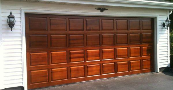 Clopay Classic Collection Raised Panel Wood Garage Door In Cedar Factory Fin