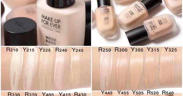 SWATCHES of the NEW Makeup Forever Water Blend face and ...