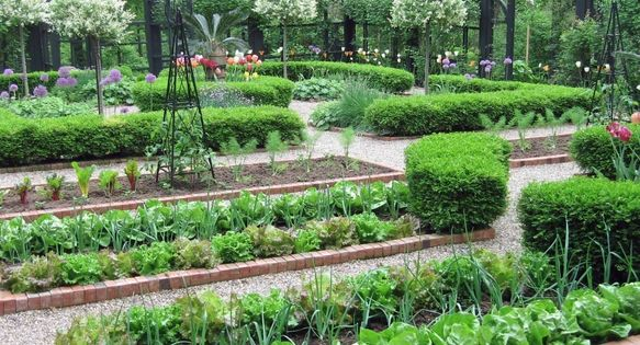 edible landscaping kitchen garden jardin potager bauerngarten k kstr dg rd edible. Black Bedroom Furniture Sets. Home Design Ideas
