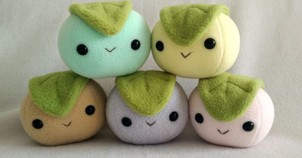 Mochi dessert rice ball plush by ValkyriaCreations on Etsy Pillows & Stuffed Animals ...