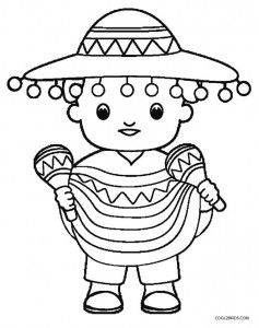 Cinco De Mayo Coloring Pages To Print Coloring Pages For Kids Dance Coloring Pages Coloring Pages