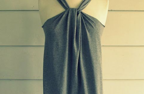 No sew DIY halter top.. so many cute ideas on this blog!!
