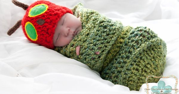 Very hungry caterpillar sleepy wrap. Awwww I love the hungry caterpillar :)