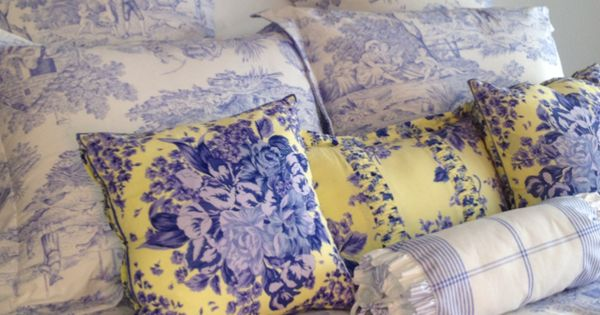 Bllue And White Toile Neiman Marcus Bedding