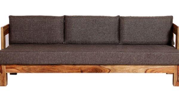 Wood Framed Three Seater Sofas Buy Wood Framed Three Seater Sofas Online In India At Best Prices Three Seater Sofa Seater Sofa Sofa