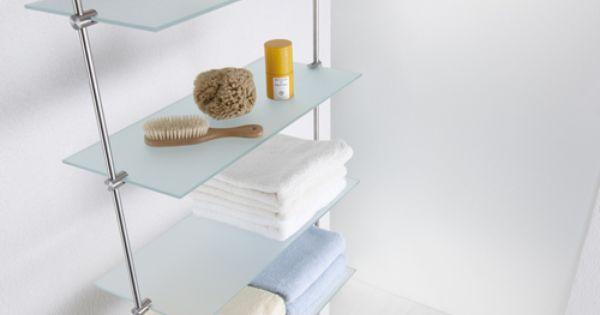 glasregal mit edelstahl halterung bad accessoires pinterest glasregal halterung und edelstahl. Black Bedroom Furniture Sets. Home Design Ideas