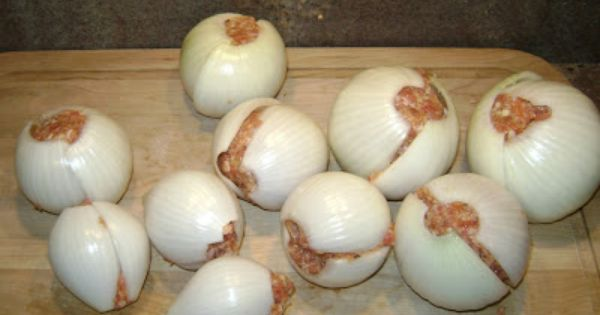 Onion Bombs (Camping Food) - great idea for high-protein campfire food to