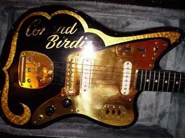 Custom 1962 Fender Jaguar Guitar With Gold Hardware From The 1963 Movie Bye Bye Birdie Fender Jaguar Jaguar Guitar