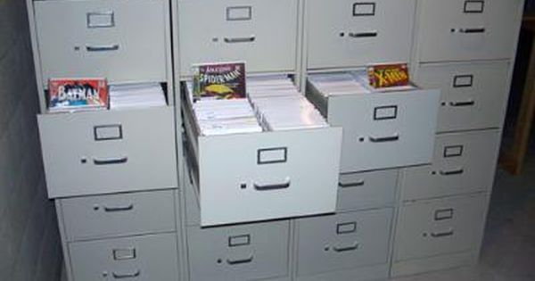 Comic Book File Cabinet Each Drawer Holds The Equivalent Of