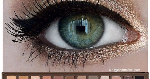 Pretty eye makeup idea for green eyes