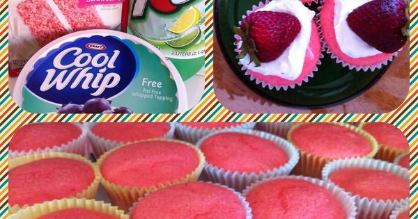 Maybe use sprite zero instead of diet 7up? Diet Strawberry Cupcakes! Less