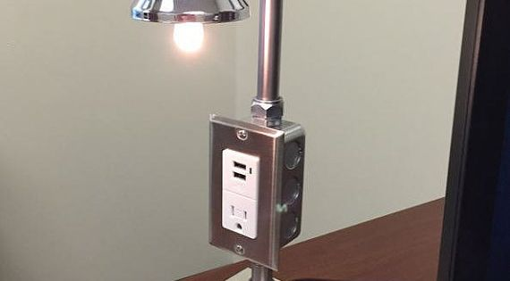 Industrial Desk Lamp Custom Made Stainless By