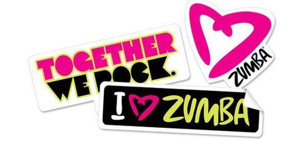 Zumba Together We Rock Stickers Zumba Instructors Zumba Funny