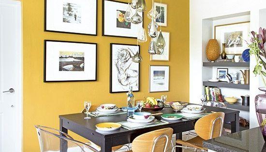 Acentos de color mostaza diferencias comedores y for Comedores estampados