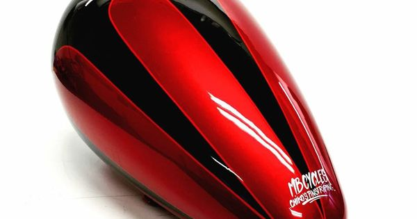 Mustang Style Motircycle Gas Tank Airbrush Scalops