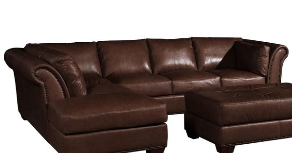 Usa premium leather 8651 traditional leather sectional for W furniture lafayette la