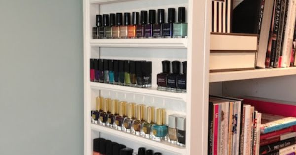 maggie 39 s makeup nail polish storage video like this. Black Bedroom Furniture Sets. Home Design Ideas