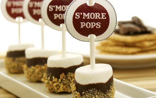 Easy S'more Pops - I know a troop that would like these.