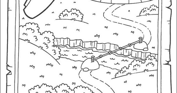 DORA THE EXPLORER coloring pages - Map | Tips | Pinterest ...