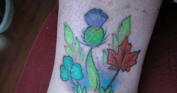 Celebration of my scottish canadian and irish heritage for Irish canadian tattoos